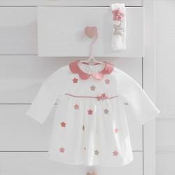 Mayoral Vestido tundosado y diadema bebé niña 2847
