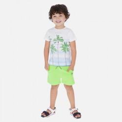 Mayoral Conjunto camiseta dibujo y bermudas niño 3621