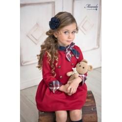 Miranda vestido Infantil Granate lazada cuadros 0613/V