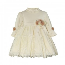 Miranda Vestido niña Beige 0225/V