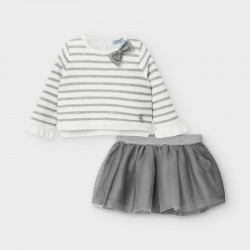 Mayoral Conjunto falda tul bebé niña 2974