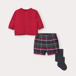 Mayoral Conjunto pantalón corto cuadros recién nacido niño 2218