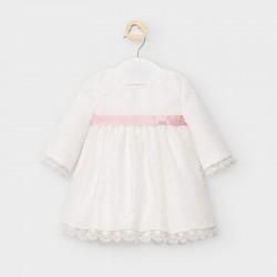 Mayoral Vestido organza y plumeti recién nacido niña 2863