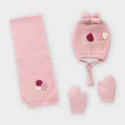 Mayoral Conjunto gorro bufanda flores bebé niña 10842-95