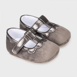 Mayoral Zapato terciopelo charol recién nacido niña 9341