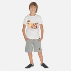 Mayoral Conjunto camiseta dibujo y bermudas niño 6612
