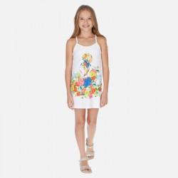 Mayoral Vestido tirantes dibujo niña 6989