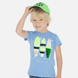Mayoral Camiseta manga corta lentejuelas reversibles niño 3066