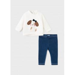 Mayoral Conjunto leggings tejano bebé niña 2719