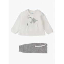 Losan Conjunto de sudadera con bolsillo canguro y pantalón 12V-8010AL