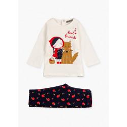 Losan Conjunto camiseta y leggin Caperucita 128-8000AL