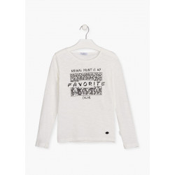 Losan Camiseta de algodón Print 124-1011AL