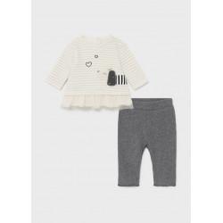 Mayoral Conjunto leggings volante recién nacido niña 2708