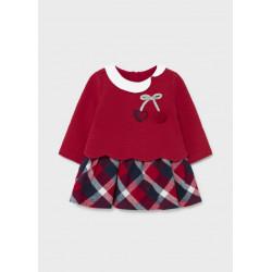 Mayoral Vestido ECOFRIENDS falda combinada recién nacido niña 2806