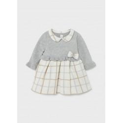Mayoral Vestido tricot combinado recién nacido niña 2816